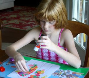 Filling her 'love-o-meter' apparently involves glue and paper (no surprise!)